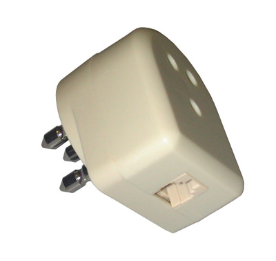TELEPHONE PLUG ADAPTER WITH TRIPOLI THROUGH MALE / FEMALE and te