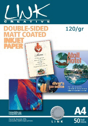 COATED PAPER FOR INK JET PRINTERS A4 PACK 50 SHEETS