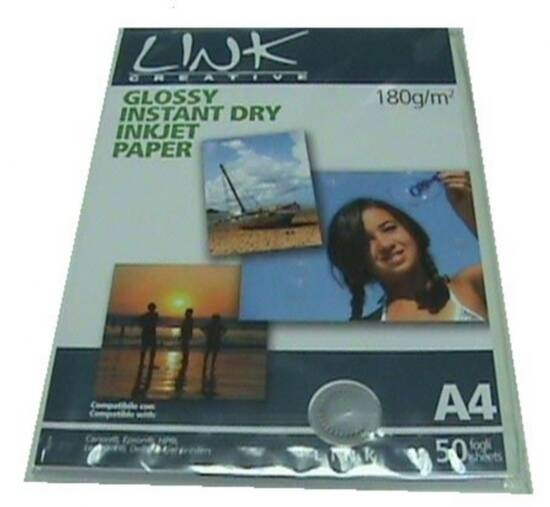 PHOTO PAPER GLOSSY INSTANT DRYING, WATER REPELLENT, A4 SIZE (21X