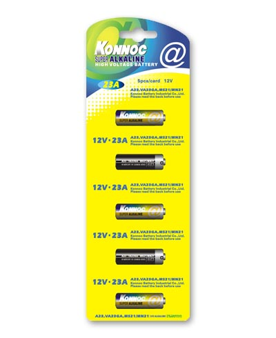 12V - 23A SUPER ALKALINE BATTERY - pz 1