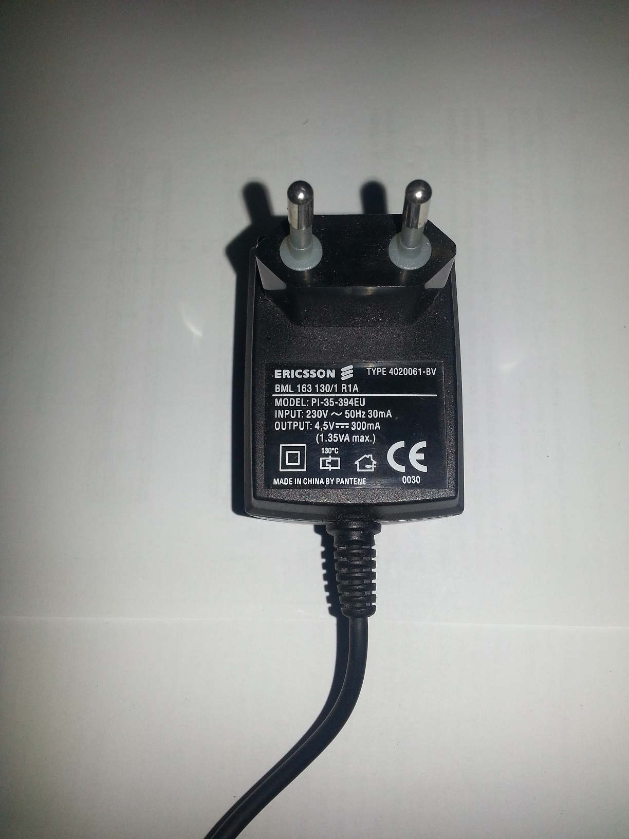 ADAPTER / ALIEMNTATORE AC-DC 220V - without connector 4.5v-300ma