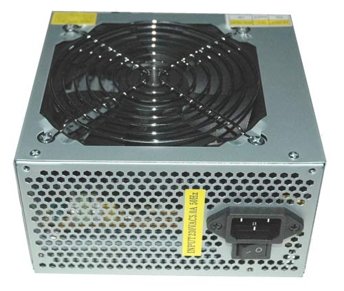 600 WATT POWER SUPPLY FOR PC WITH 12 CM FAN.