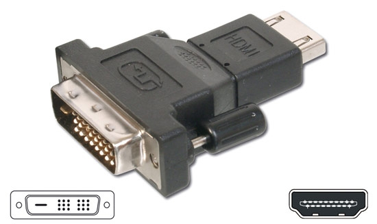 ADAPTER HDMI 19-PIN FEMALE / MALE DVI-D 24 +1
