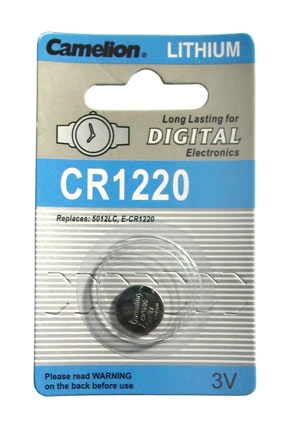 CR1220 BATTERY LITHIUM 3 VOLT BUTTON TYP IEC CR1220, 5012LC
