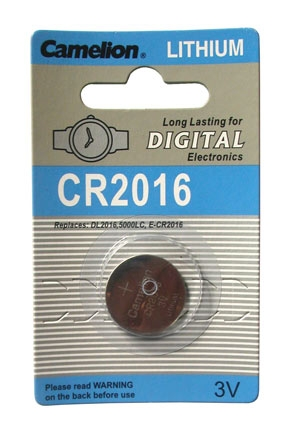 CR2016 BATTERY LITHIUM 3 VOLT BUTTON TYP IEC CR2016, DL2016, 500
