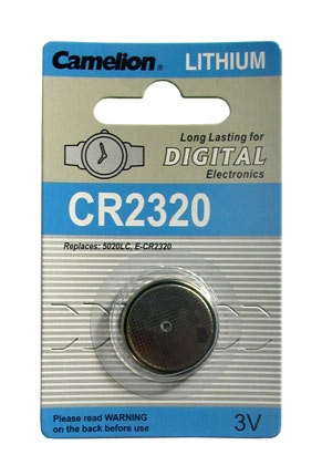 CR2320 BATTERY LITHIUM 3 VOLT BUTTON TYP IEC CR2320, 5020LC (A C