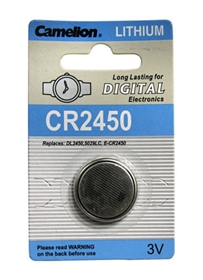 CR2450 BATTERY LITHIUM 3 VOLT BUTTON TYP IEC CR2450 (ACR2450-BP1