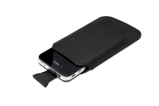 LEATHER CASE FOR IPHONE AND IPOD TOUCH 4 - BLACK