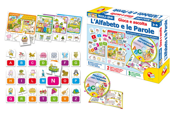 ALPHABET WORDS AND PLAY AND LISTEN (ITALIAN)