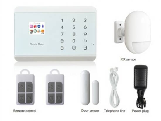 ALARM KIT WITH CONTROL UNIT, PIR SENSOR, 2 REMOTE SENSOR DOOR