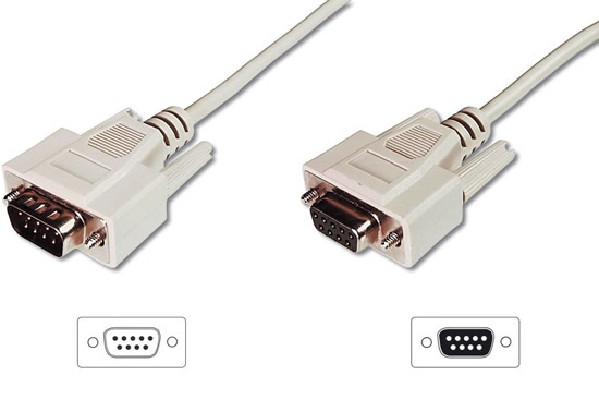 EXTENSION CABLE 9 PIN-TO-PIN (PIN CABLE MODEM) MALE / FEMALE mt.